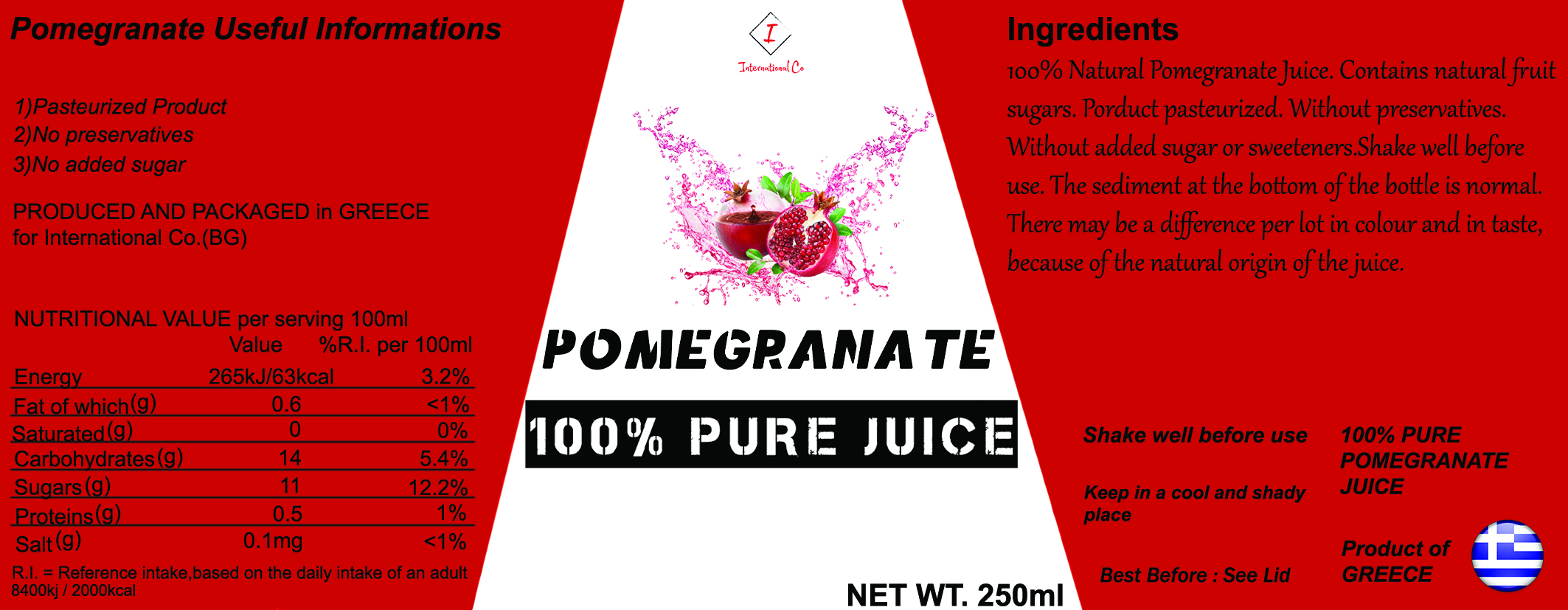 Aronia Berry Pomegranate – 100% Pure Juice